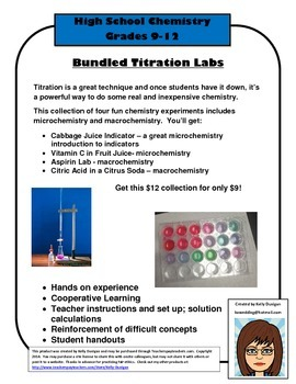 Bundled Titration Labs  - Micro and Macro Chemistry