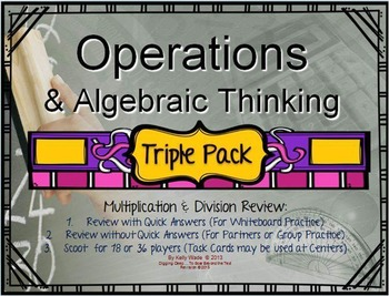 #RingIn2018 ~ Bundle 3-Pack: Operations & Algebra in Multiplication & Division