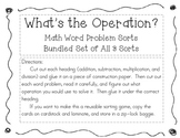 """Bundled """"What's the Operation"""" Math Word Problem Sort 1, 2, & 3"""