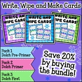 Winter Write Wipe and Make Cards Dolch Sight Words Bundle