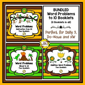 Bundled Word Problems Booklets (Addition/Subtract/Mixed to 10)