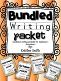 Bundled Writing Pack-- Helping students with handwriting skills from Sept.- Dec.