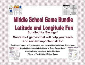 Bundled for Savings Amazing Collection 4 Latitude Longitude Games