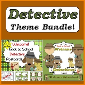 Bundled for Savings Detective Theme Classroom Pack
