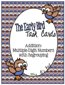 Bundled for Savings:  Early Bird Task Cards - Addition and Subtraction