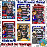 Bundled for Savings Illustrated American History Vocabulary Cards