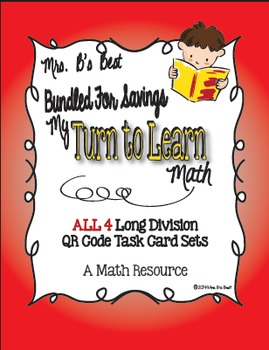 Bundled for Savings My Turn to Learn QR Code Task Cards: Long Division