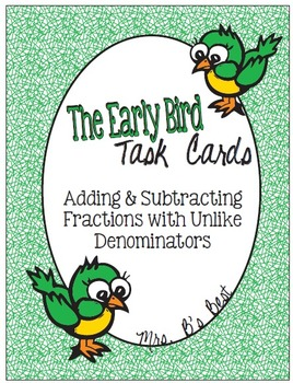 Bundled for Savings: The Early Bird Task Cards - Everything Fractions!