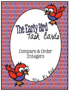 Bundled for Savings: The Early Bird Task Cards - Integers