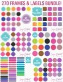 Clip Art 270 Frames and Labels Bundle