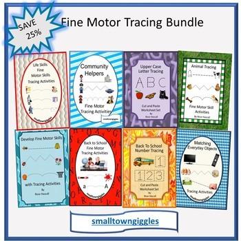 Tracing Bundles Fine Motor Skills P-K, K, Special Education, Autism Activities