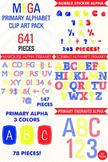 Clip Art Alphabet 641 Piece MEGA SET