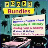 1,624 US History & US Geography Images + Math + Grammar Worksheets + Reading...