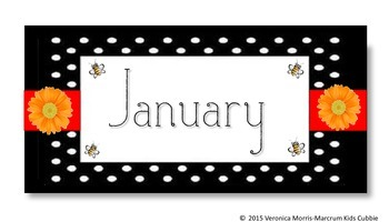 Bundles of Bees: Calendar, name plates, bus tags, and more
