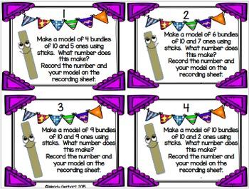Bundles of Ten Place Value Task Cards
