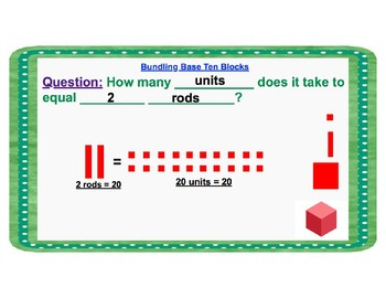Bundling With Base Ten Lesson and Practice Sheet