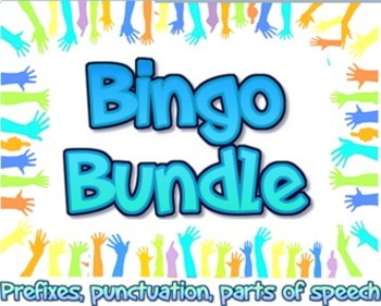 Bundle: English language arts bingo games