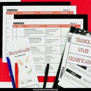Bunnicula Foldable Novel Study Unit