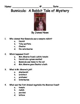 Bunnicula: A Rabbit Tale of Mystery Book Test