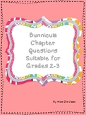 Bunnicula Chapter Questions- Suitable for Grades 2-3