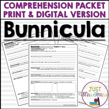 Bunnicula Comprehension Packet
