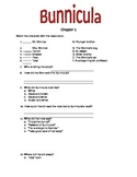 """Bunnicula"" Comprehension Questions"