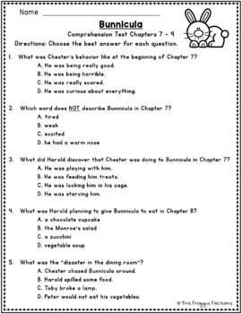 Bunnicula Comprehension Tests - 4 Tests