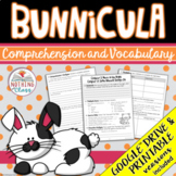 Bunnicula: Comprehension and Vocabulary by chapter Distance Learning