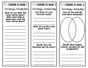 Bunnicula Novel Study Unit: comprehension, vocabulary ...