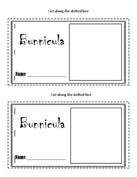 Bunnicula Mini Book No Prep for Independent Work Time