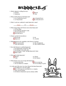 Bunnicula Mini-Quiz