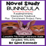 Bunnicula Novel Study + Enrichment Project Menu