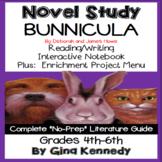 Bunnicula Novel Study + Enrichment Project Menu