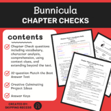 Bunnicula Novel Study, Test, and Culminating Project