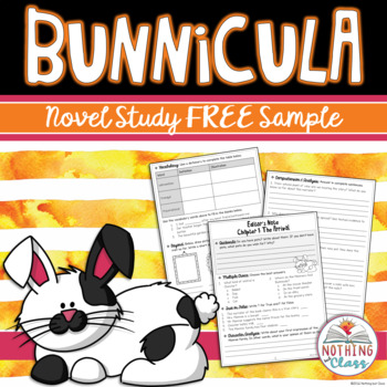 Bunnicula Novel Study Unit: FREE Sample