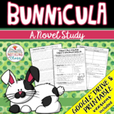 Bunnicula Novel Study Unit: comprehension, vocabulary, activities, test