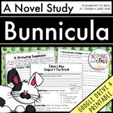 Bunnicula Novel Study Unit: comprehension, vocabulary, activities, test