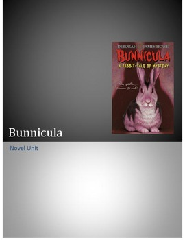 Bunnicula Novel Unit