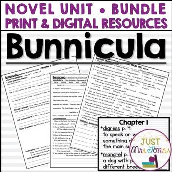 Bunnicula Novel Unit