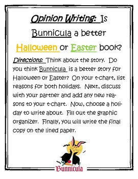 Bunnicula Opinion Writing
