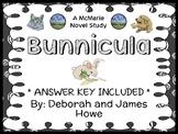 Bunnicula (Deborah and James Howe) Novel Study / Comprehen