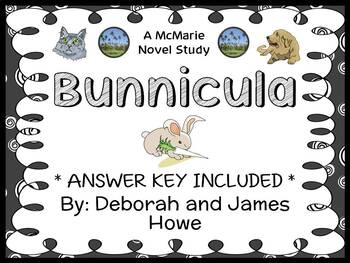 Bunnicula (Deborah and James Howe) Novel Study / Reading C