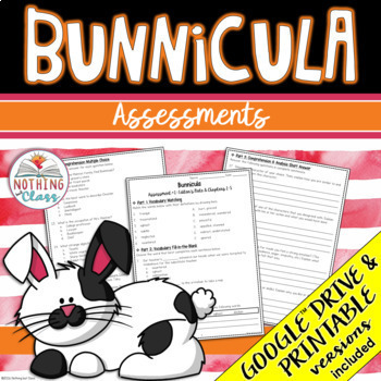 Bunnicula: Tests, Quizzes, Assessments