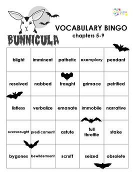 Bunnicula Vocabulary Bingo