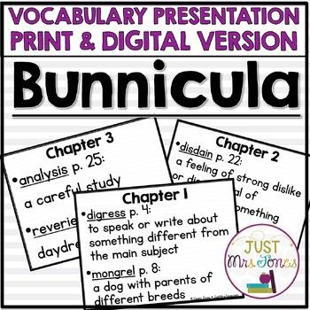 Bunnicula Vocabulary Presentation