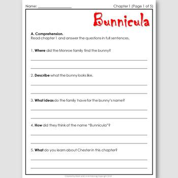 Bunnicula, an ELT Novel Study for Japanese Students