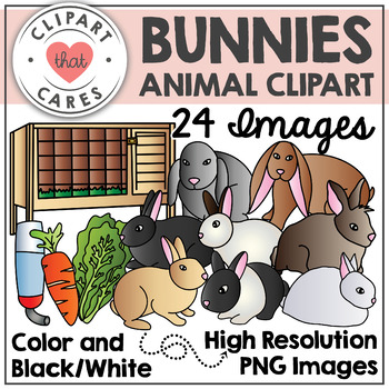 Bunnies Animal Clipart by Clipart That Cares