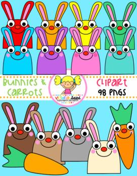 Bunnies & Carrots Clipart