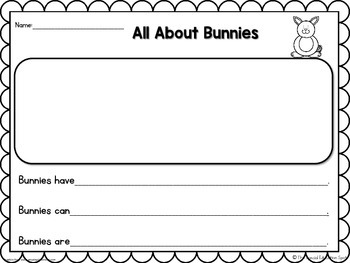 Bunnies & Chicks: A Spring Writing Project