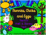 Bunnies, Chicks, and Eggs {Pre-K/K Math and Literacy Pack}